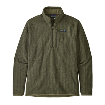 Patagonia Men's Better Sweater Rib Knit 1/4-Zip Fleece